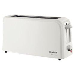 Amenajare Bucatarie Prajitor de paine Bosch CompactClass TAT3A001 long slot, suport chifle, sertar firimituri, alb/gri deschis