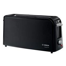 Electrocasnice mici Prajitor de paine Bosch CompactClass TAT3A003 long slot, suport chifle, sertar firimituri, negru