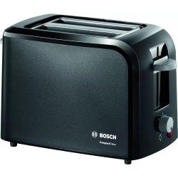 Electrocasnice mici Prajitor de paine Bosch CompactClass TAT3A013 suport chifle, sertar firimituri, negru