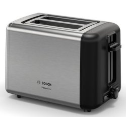 Electrocasnice mici Prajitor de paine Bosch TAT3P420 DesignLine, 2 felii, inox
