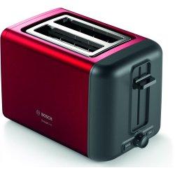 Electrocasnice mici Prajitor de paine Bosch TAT3P424 DesignLine, 2 felii, rosu