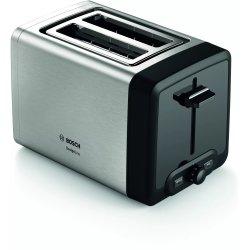 Electrocasnice mici Prajitor de paine Bosch TAT4P420 DesignLine, 2 felii, inox