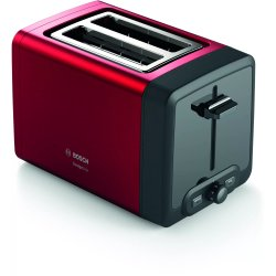 Electrocasnice mici Prajitor de paine Bosch TAT4P424 DesignLine, 2 felii, rosu