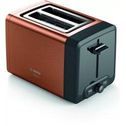 Electrocasnice mici Prajitor de paine Bosch TAT4P429 DesignLine, 2 felii, cupru