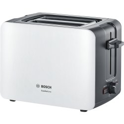 Aparate paine Prajitor de paine Bosch TAT6A111 ComfortLine compact, suport chifle, sertar firimituri, alb-gri inchis