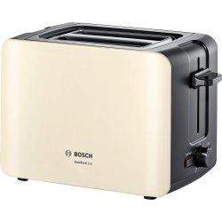 Electrocasnice mici Prajitor de paine Bosch TAT6A117 ComfortLine, 2 felii, bej