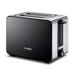 Electrocasnice mici Prajitor de paine Bosch TAT7203, 2 felii, negru-inox