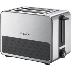 Electrocasnice mici Prajitor de paine Bosch TAT7S25 Styline, 2 felii, grafit