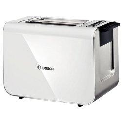 Electrocasnice mici Prajitor de paine Bosch TAT 8611 Styline, 2 felii, 860W, alb