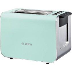 Electrocasnice mici Prajitor de paine Bosch TAT8612 Styline, 2 felii, 860W, verde