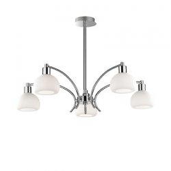 Candelabre & Lustre Lustra Ideal Lux Tokyo SP5, 5x40W, 75x50-75cm, crom