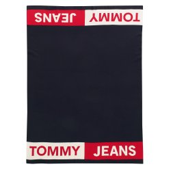 Default Category SensoDays Pled Tommy Jeans TJ Band 130x170cm, albastru navy