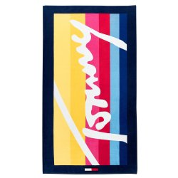 Halate de baie & Prosoape Prosop plaja Tommy Jeans TJ Colored Lines 93x170cm, multicolor