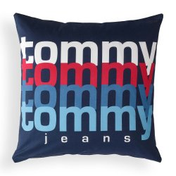 Textile decorative Perna decorativa Tommy Jeans TJ Rainbow 40x40cm, albastru navy
