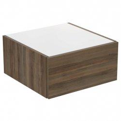 Dulapuri baie suspendate Dulap suspendat Ideal Standard Adapto cu un sertar, 50x50x24.5cm, maro inchis