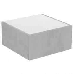Dulapuri baie suspendate Dulap suspendat Ideal Standard Adapto cu un sertar, 50x50x24.5cm, gri