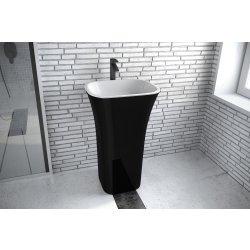 Lavoare baie Lavoar pe pardoseala Besco Assos Black & White 40x50x85cm, compozit mineral, negru