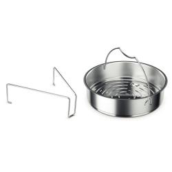Recipiente pentru gatit Accesoriu gatire cu aburi cu tripod pentru oale sub presiune Fissler 22 cm
