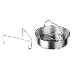 Recipiente pentru gatit Accesoriu gatire cu aburi cu tripod pentru oale sub presiune Fissler 26 cm