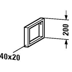 Default Category SensoDays Suport sustinere consola Duravit Happy D.2 pentru blaturi cu latimea de 48cm