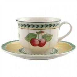 Ceasca si farfuriuta cappuccino Villeroy & Boch French Garden Fleurence 0.35 litri
