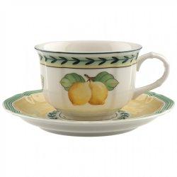 Cesti & Cani Ceasca si farfuriuta ceai Villeroy & Boch French Garden Fleurence 0.20 litri