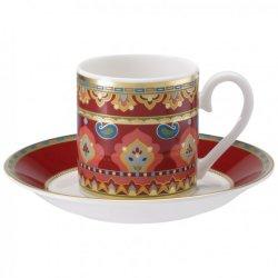 Ceasca si farfuriuta espresso Villeroy & Boch Samarkand Rubin