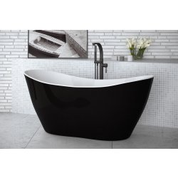 Default Category SensoDays Cada free-standing Besco Viya Black & White 160x70cm