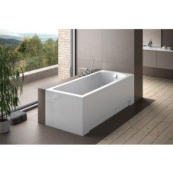 Cazi de baie simple Cada baie rectangulara Besco Shea 150x70cm, acril, montaj cu panouri