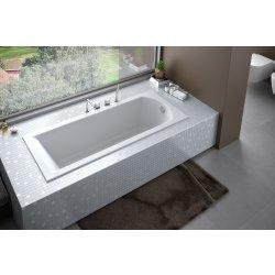 Cada baie rectangulara Besco Shea Slim 150x70cm, acril, montaj incastrat