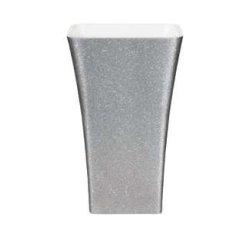 Lavoare baie Lavoar pe pardoseala Besco Assos Glam 40x50x85cm, compozit mineral, Silver