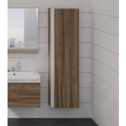 Dulapuri baie suspendate Dulap inalt tip coloana Ravak Concept 10° cu o usa, 45x29x160cm, nuc inchis