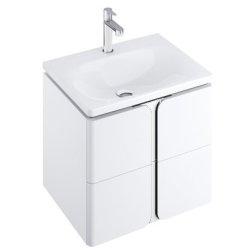 Dulapuri si blaturi pentru lavoare baie Dulap baza suspendat Ravak SD Balance 50cm cu doua sertare soft close, alb