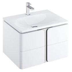 Dulapuri si blaturi pentru lavoare baie Dulap baza suspendat Ravak SD Balance 80cm cu doua sertare soft close, alb