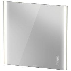 Oglinzi baie & Oglinzi cosmetice Oglinda Duravit XViu cu iluminare LED 82x80cm, cu incalzire si actionare pe senzor, margini champagne mat