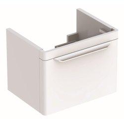 Dulap baza Geberit myDay 54cm cu un sertar, alb lucios
