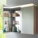 Dulap cu oglinda si iluminare Duravit Happy D.2 76x100x13.8cm, bej decor linen