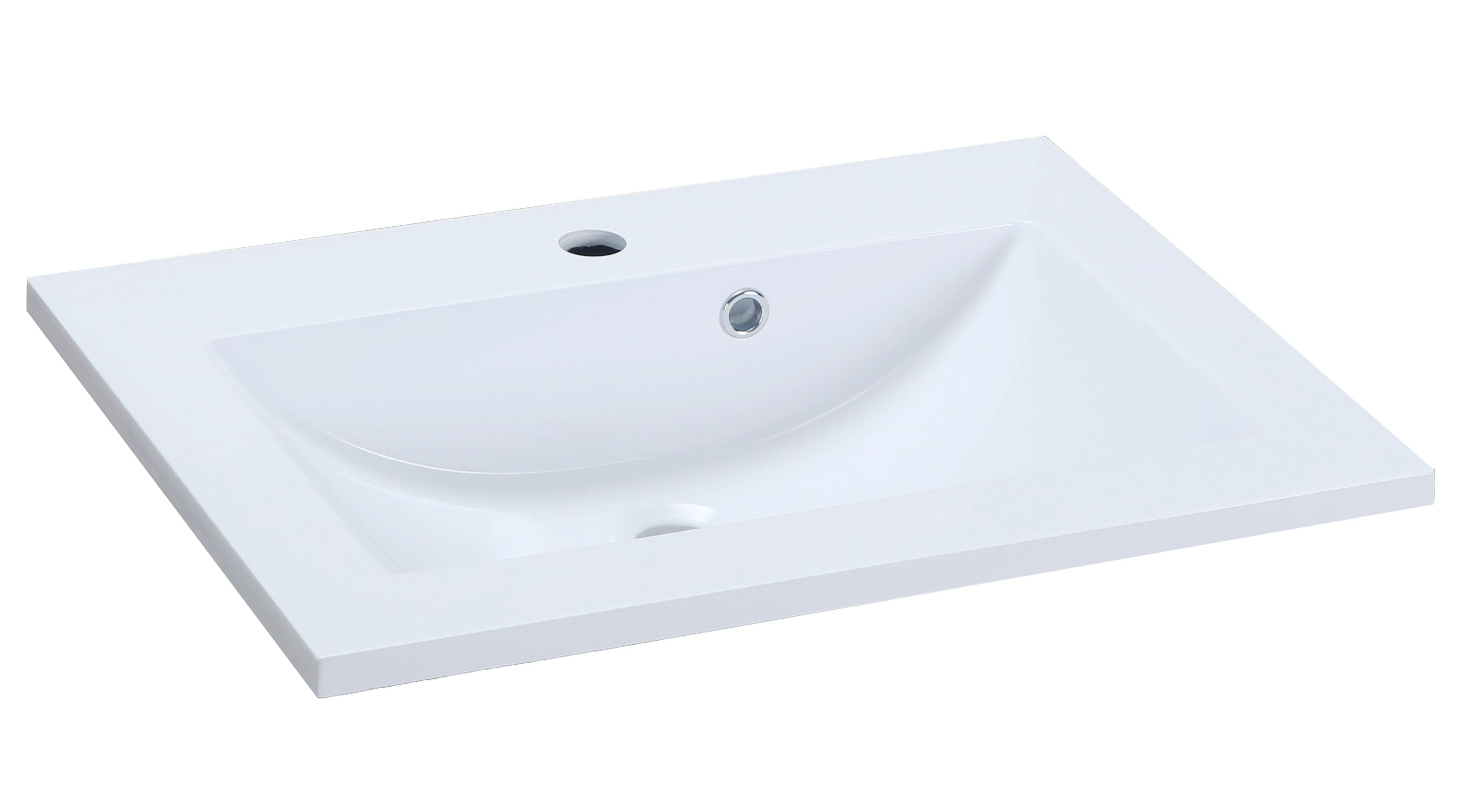 Lavoar Sanotechnik Soho 60x48cm montare pe mobilier compozit alb imagine