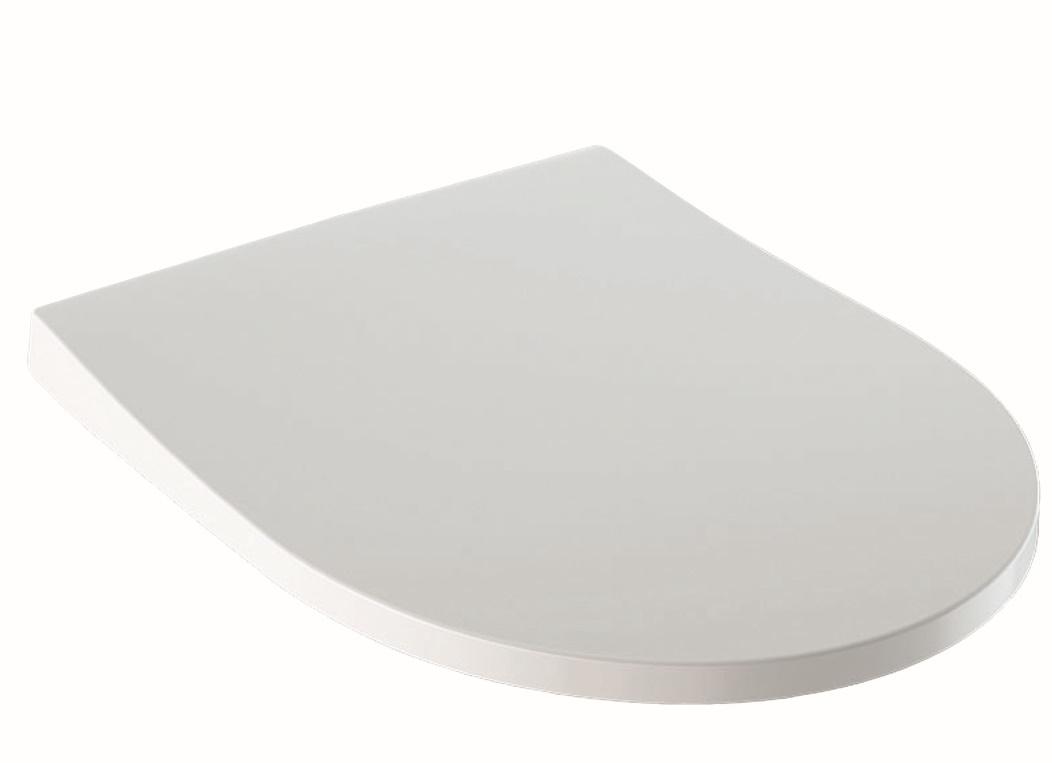 Capac WC Geberit iCon slim cu inchidere lenta Alb imagine