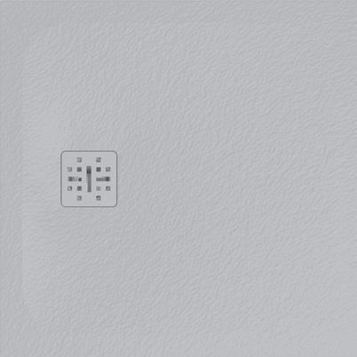 Cadita de dus patrata Globo Docciapietra 80x80x3cm sifon inclus imagine