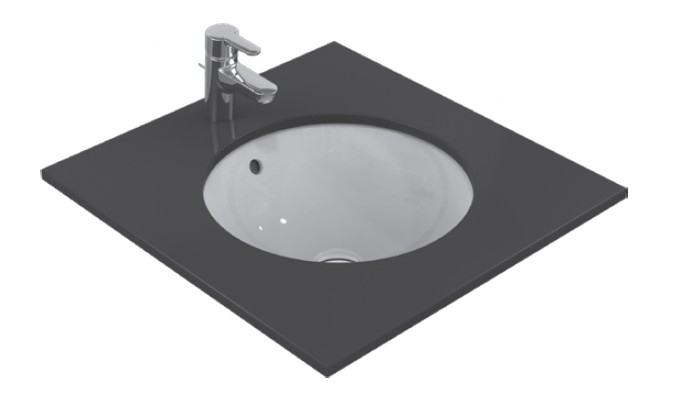 Lavoar Ideal Standard Connect Sphere 48x48cm montare sub blat imagine