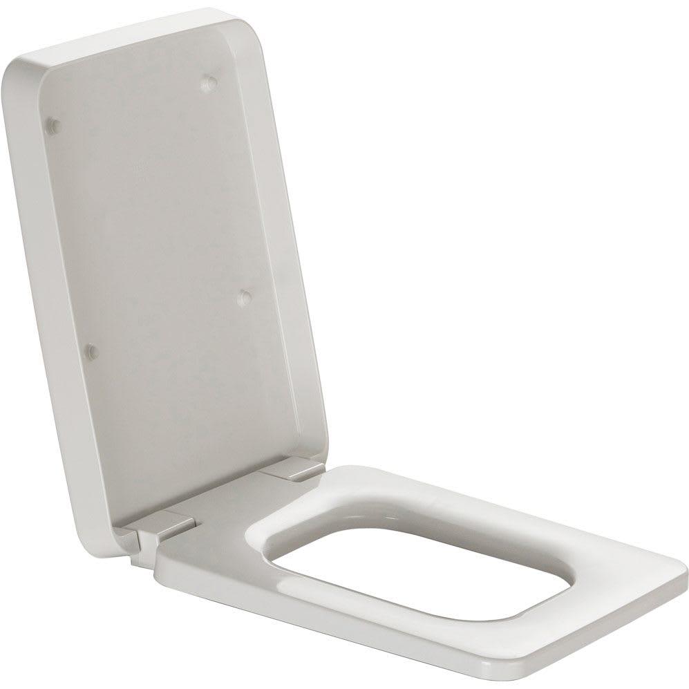 Capac WC Laufen Il Bagno Alessi One Square cu inchidere lenta alb imagine