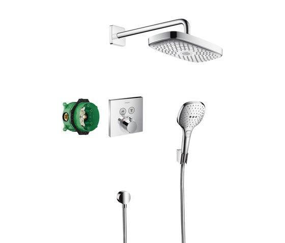 Sistem de dus incastrat termostatat Hansgrohe Design Raindance Select E Shower Select S cu 2 consumatori imagine