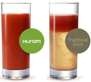 Comparatie suc de fructe Hurom
