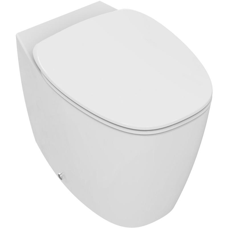 Set vas WC Ideal Standard Dea AquaBlade back-to-wall cu capac inchidere lenta pentru rezervor ingropat imagine