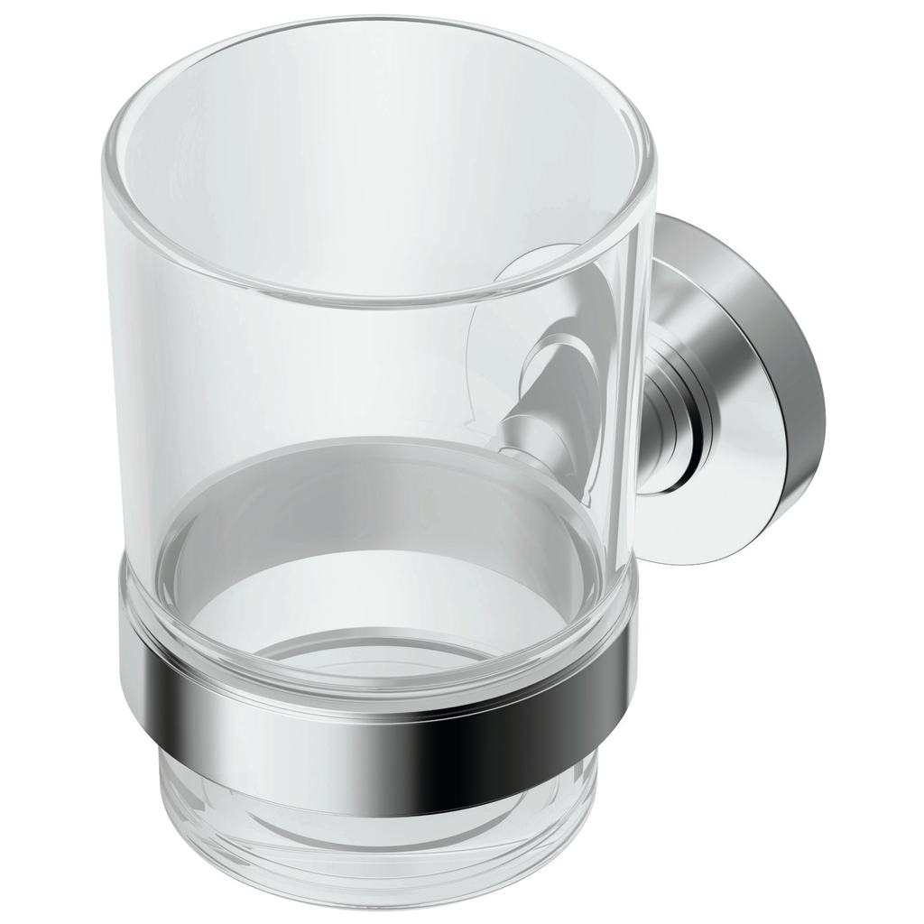 Pahar cu suport Ideal Standard IOM sticla transparenta imagine