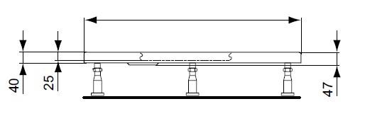 Picioare cadita dus Ideal Standard Ultra Flat imagine