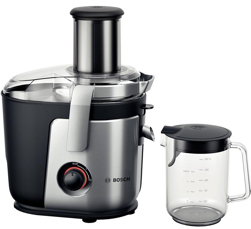 Storcator de fructe si legume Bosch MES4000 1000W tub alimentare XXL cutit ceramic negru-silver