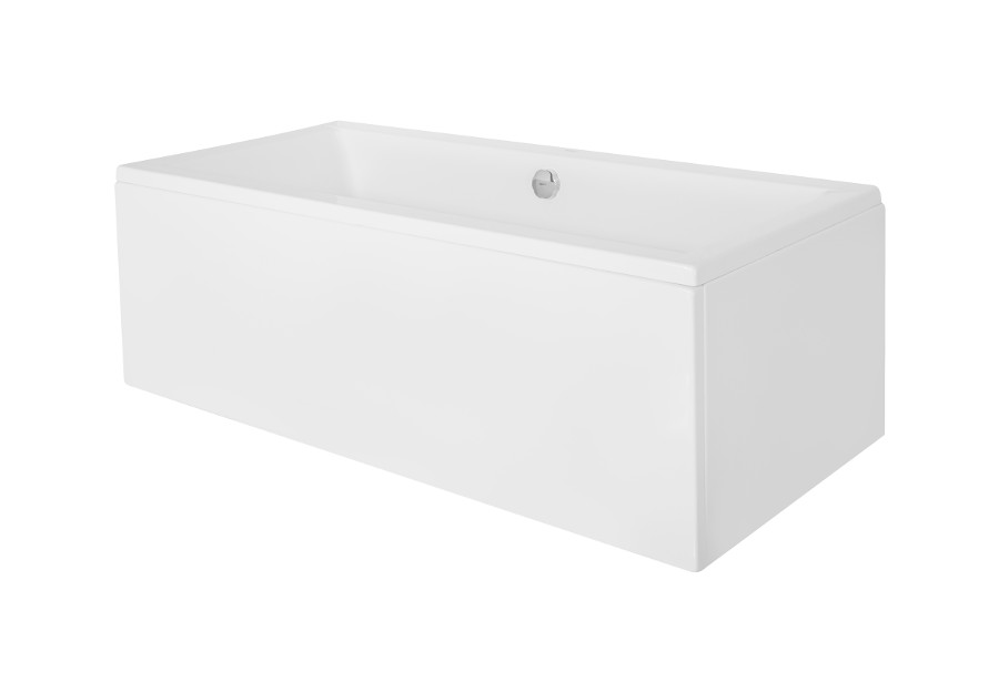 Cada baie rectangulara Besco Quadro 165x75cm acril imagine
