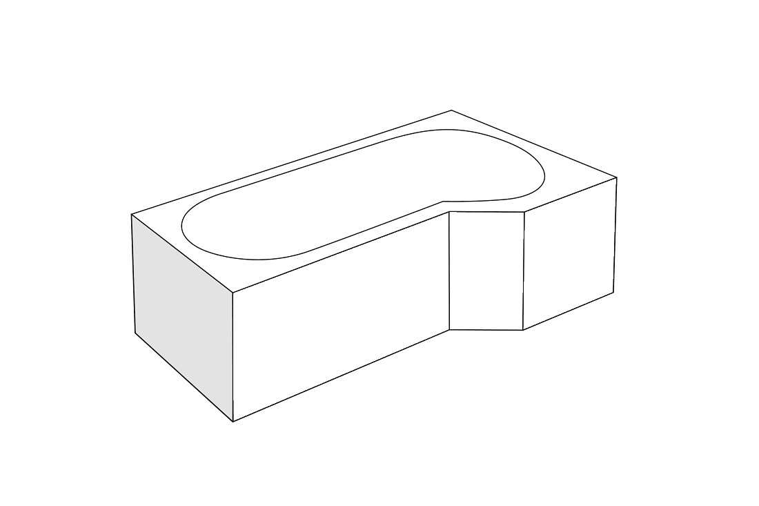 Panou lateral Radaway pentru cada asimetrica Kariteia 65cm h56cm imagine